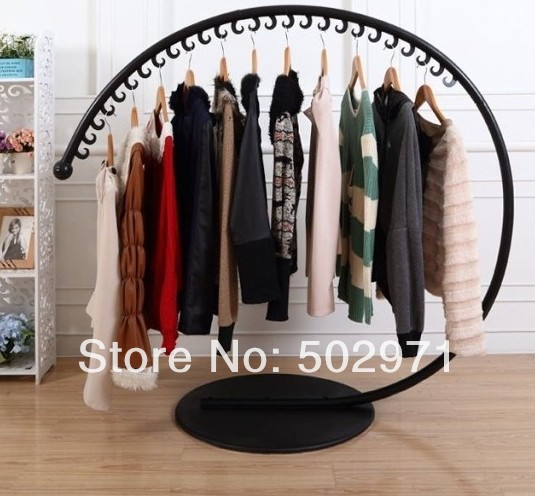 Free Shipping Iron Floor Clothes Rack Hanger Creative Arc Rack - Creative clothes racks