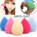 16pcs/lot High quality Makeup Foundation Sponge Blender Blending Cosmetic Puff Flawless Powder Smooth Beauty Make Up Tool kits