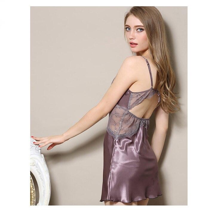 9b780c126 Mulheres Babydoll Lingerie sexy camisola das Mulheres Camisola De Seda  Rendas Mini vestidos de noite sleepwear em Camisolas e roupas de dormir de  Roupa ...