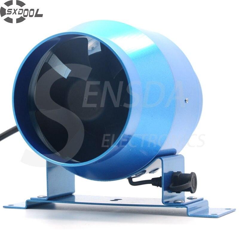 SXDOOL 4 100mm Duct inline Fan w/ Speed Controller 100-264VAC 160CFM IP44 metal frame цена