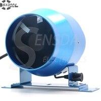 4 100mm Duct Inline Fan W Speed Controller 100 264VAC 160CFM IP44 Metal Frame