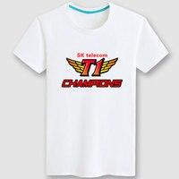 LOL SKT Faker New T shirt Unisex Short Sleeve Cosplay T shirt Free Shipping