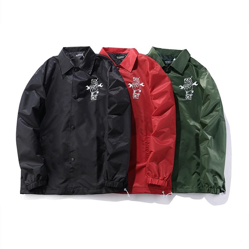 Hommes nouveau Original veste Baseball uniforme anglais veste rue coupe-vent lâche tendance Hip Hop manteau mâle Stand lettre imprimer