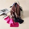 2017 моды классические печати шелковый шарф люксовый бренд шарф женщин весной и летом бандана платок платки мягкий пончо шарфы