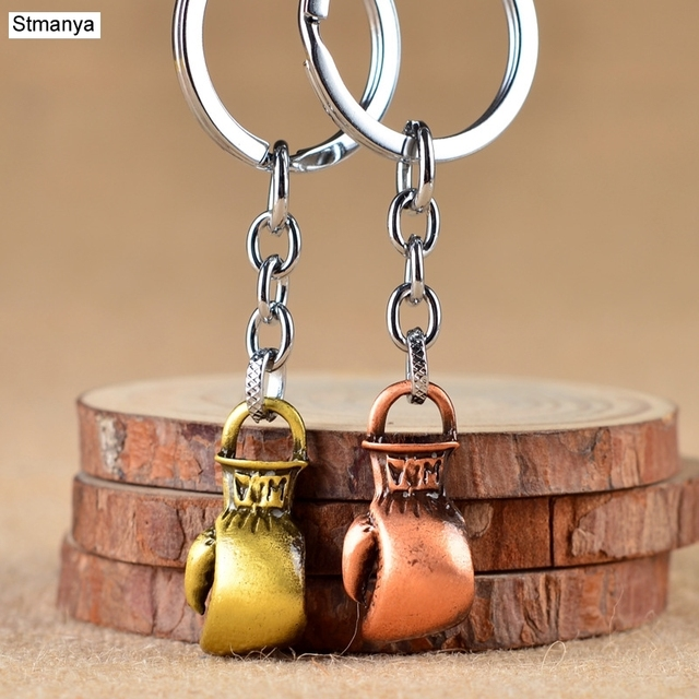 Boxing Glove keychain Antique Bronze Cool Luxury metal Keychain Car Key Chain Key Ring Bag pendant For Sport Business gift