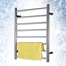 Mirror Polish Stainless Steel 304 Electric Wall Mounted Towel Warmer,Bathroom Accessories Racks,Heated Towel Rail TW-RD8 home appliance 304 stainless steel bathroom heater towel racks electric bath accessory towel holder rail decoration icd60049