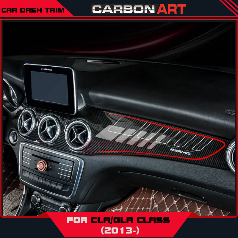 gla cla carbon fiber abs interior dashboard trim for mercedes class w117 x156 kits acd cover. Black Bedroom Furniture Sets. Home Design Ideas