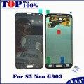 Для Samsung GALAXY S5 Neo G903 G903F ЖК-Дисплей С Сенсорным Экраном Дигитайзер Ассамблеи 100% Тестирование Работает Хорошо LCD Замены