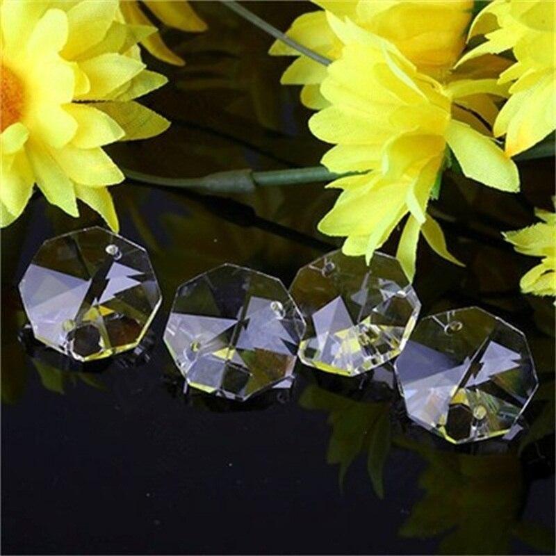 200 шт./лот 14 мм супер яркие Кристальные Восьмиугольные бусины K9 DIY для украшения вечеринки и свадьбы