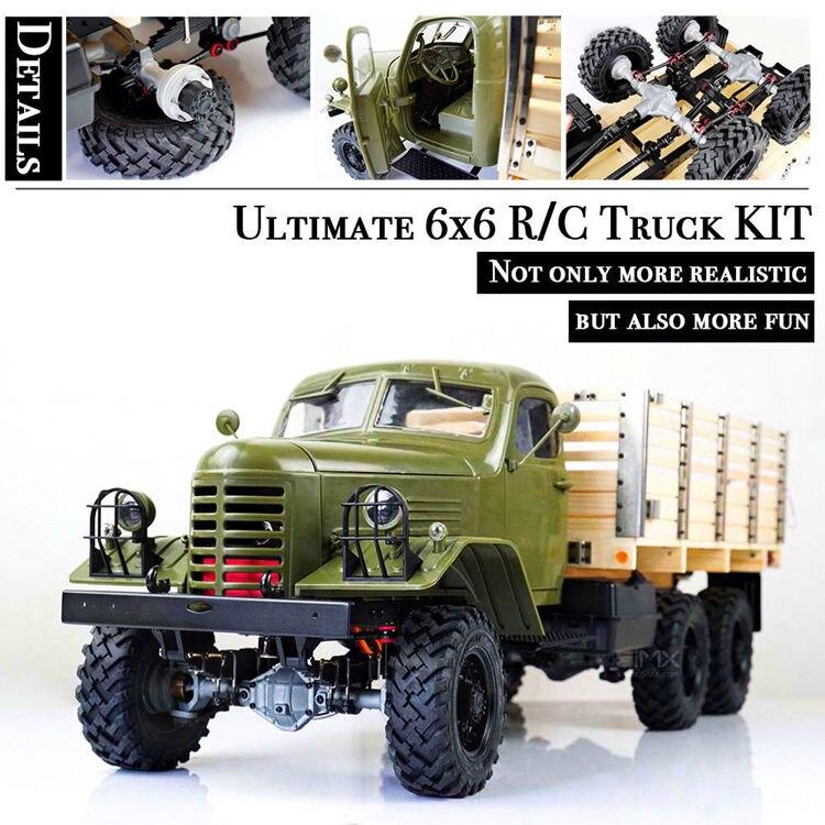 Kingkong 1/12 Échelle CA30/ZISL-151 6x6 Soviétique Camion avec Métal Châssis KIT Ensemble RC Escalade De Voiture Rc robots Cadeau D'anniversaire