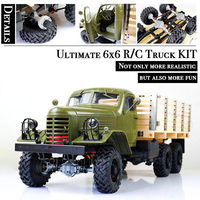 Kingkong 1/12 Scale CA30/ZISL 151 6x6 Soviet Truck with Metal Chassis KIT Set RC Climbing Car Rc Crawlers Birthday Gift