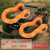 Racing Gancho de Remolque Remolque Anillo de Acero pesado D-ring Arco Cadenas de Remolque cadena de Arco Para Jeep Wrangler JK 2007-2017 ATV RV KOLEROADER/