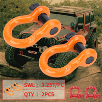 Heavy Steel Trailer Ring Racing Tow Hook D Ring Bow Shackles Towing Chain Bow For Jeep