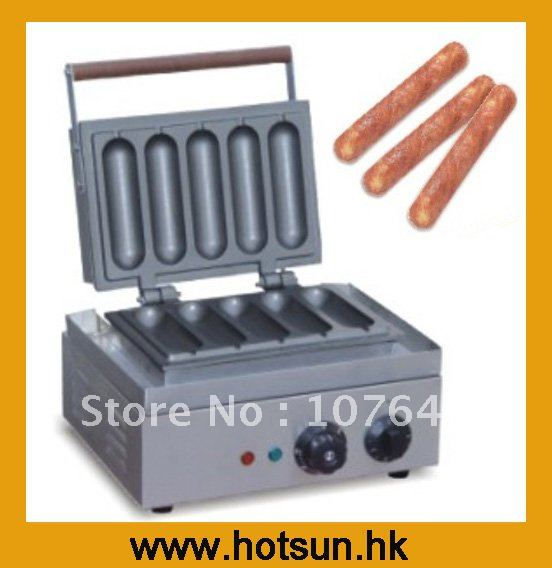 110V 220v Commercial Use Electric Hot Dog Muffin Waffle Maker Machine