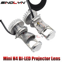 SINOLYN H4 Mini Bi LED Projector 1 5 Inch Headlight Lens 60W 5500K For Headlamp Retrofit