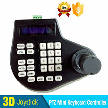 PTZ Tastatur-controller mit 3D joystick zu kontrollieren speed dome kamera über RS485 mini tastatur