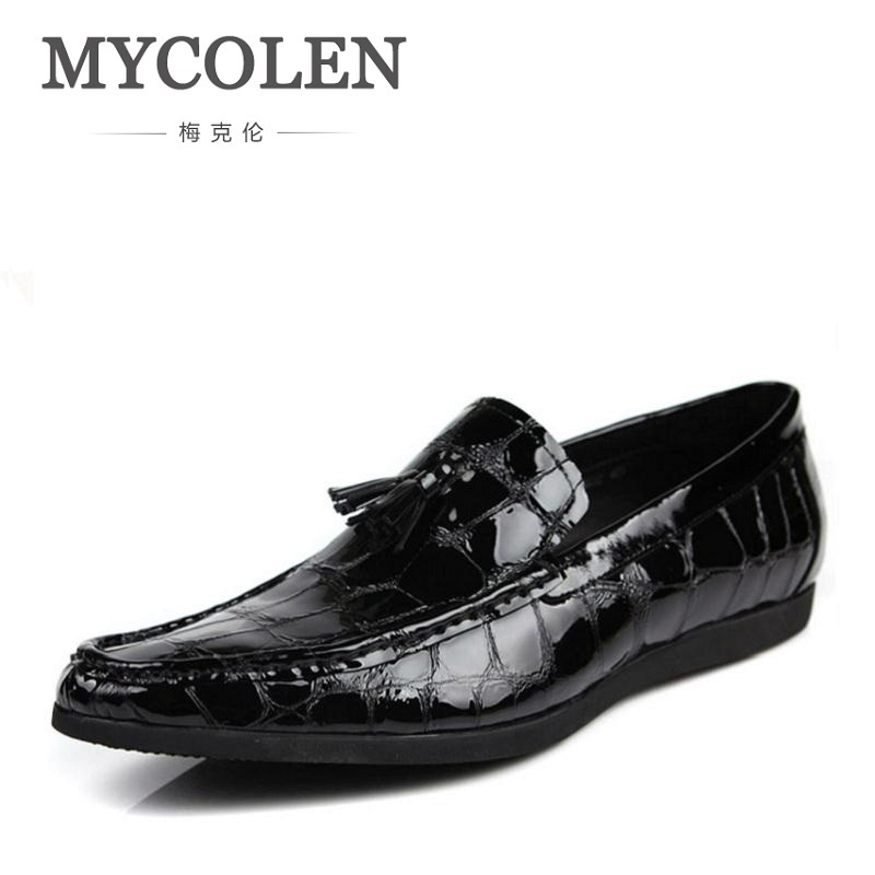 MYCOLEN New Pattern Leather Men Shoes Luxury Fashion Casual Men Loafers Wedding Party Men's Flats Herenschoenen Loafers cbjsho brand men shoes 2017 new genuine leather moccasins comfortable men loafers luxury men s flats men casual shoes