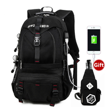 Universal External USB Charge 15.6 17.3 Inch Laptop Backpack Computer Bag Travel School for Women Men Case Cover