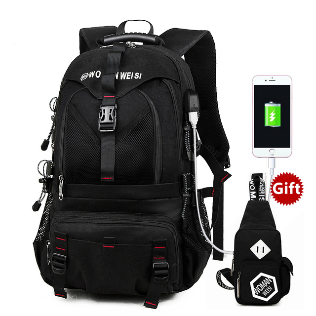 Universal External USB Charge 15.6 17.3 Inch Laptop Backpack Computer Bag Travel Bag School Bag for Women Men Laptop Case Cover