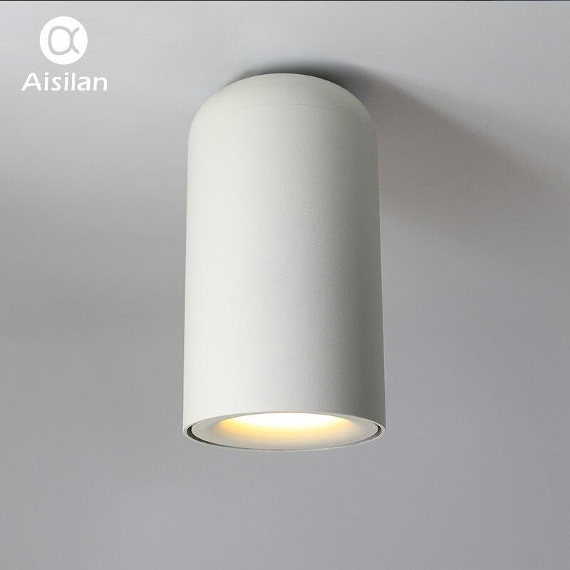 AIsilan clásico estilo nórdico LED Downlight montado en la superficie lámparas de techo para habitación dormitorio pasillo cocina AC85-260V