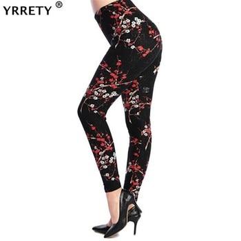 YRRETY Plus Size 2021 Print Legging Women Universe Galaxy Printing Leggins Pants Elasticity Space Tie Dye Legging High Quality 1