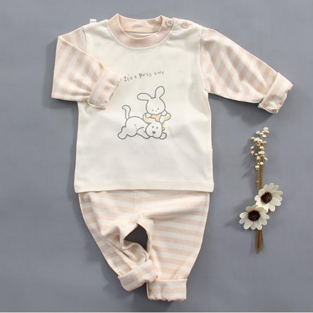 Clearance Girl sleepwear newborn 100% cotton clothing set Spring Autumn underwear baby suit For Toddler babies outfits 0-2 Year ...