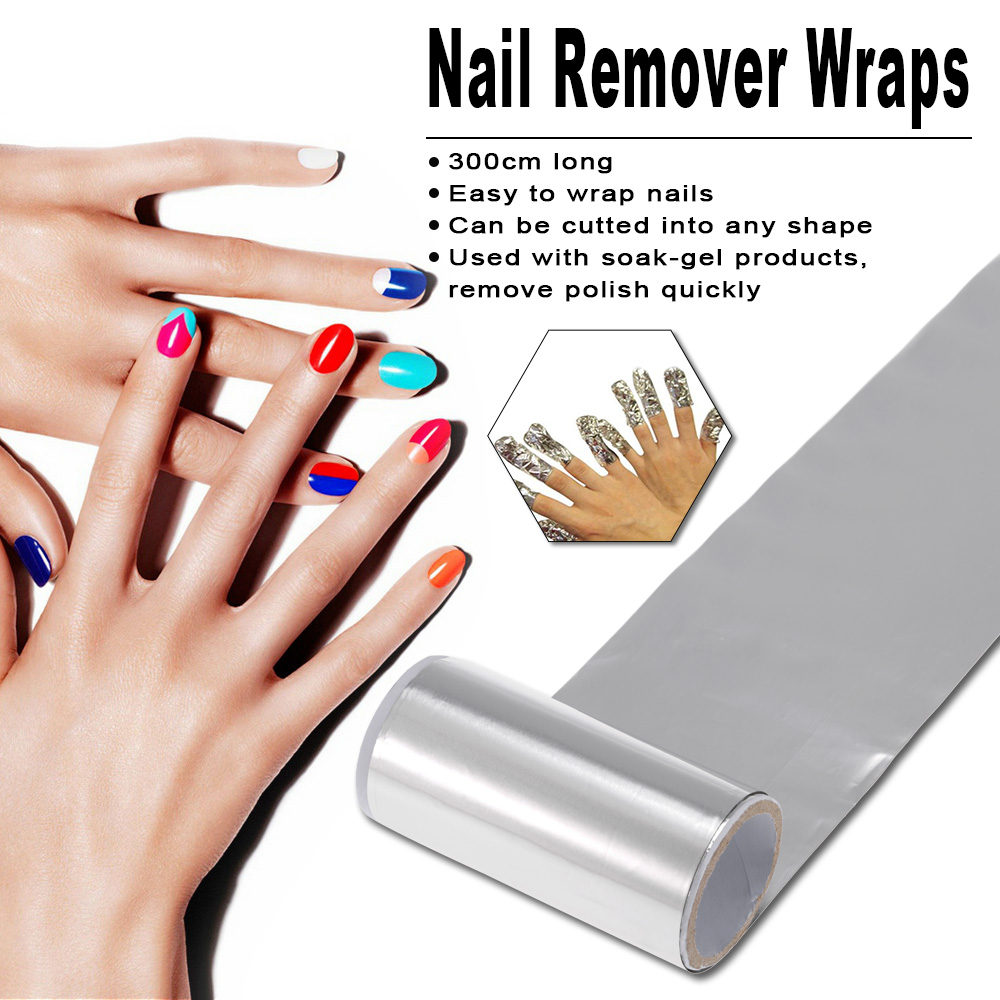 Aliexpress 1pc Nail Art Polish Foil Aluminum Soak Off Paper Remover Wraps Manicure Removing Silver Lacquer From
