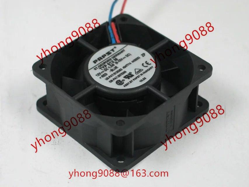 ebmpapst TYP612M TYP 612 M DC 12V 1.3W 60X60X25mm Server Square Fan ebmpapst a6e450 ap02 01 ac 230v 0 79a 0 96a 160w 220w 450x450mm server round fan outer rotor fan