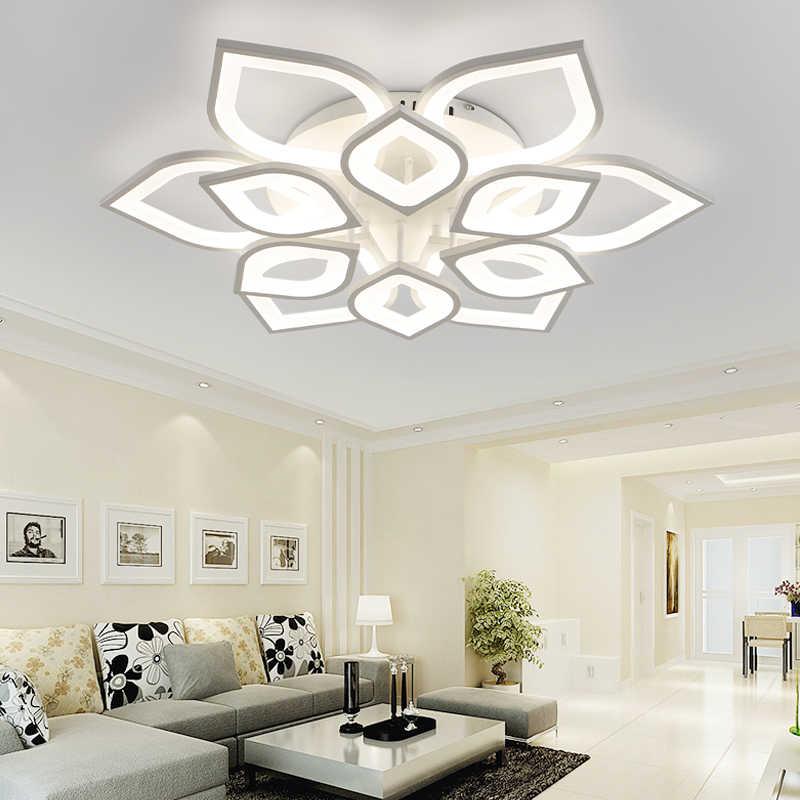 Современные светодиодные люстры для гостиной, спальни, столовой, белые, акриловые, железные, для внутреннего крепления для светильника-люстры