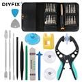 DIYFIX 38 в 1 Набор инструментов для ремонта экрана мобильного телефона, Набор плоскогубцев, отвертка, набор инструментов для разборки для iPhone ...