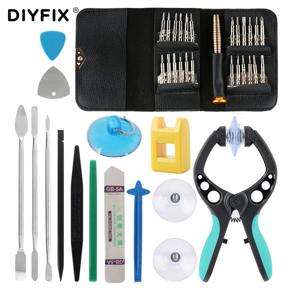 DIYFIX 38 in 1 Mobile Phone Screen Opening Repair Tools Kit Pliers Screwdriver Pry Disassemble Tool Set for iPhone Samsung vivoDIYFIX 38 in 1 Mobile Phone Screen Opening Repair Tools Kit Pliers Screwdriver Pry Disassemble Tool Set for iPhone Samsung vivo