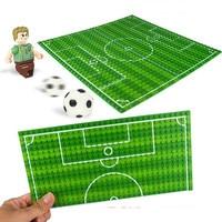 32 16 Football Basketball Base Plate Compatible LegoINGlys Figures Court  Baseplate DIY Building Blocks Bricks Toys For Children b31d110421