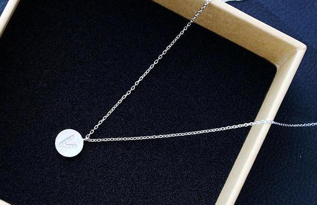 Ms mão escovado prata alergia atacado 925 colar de prata esterlina pingente de prata corrente de prata