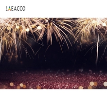 Laeacco Firework Night Light Bokeh Baby Stage Portrait Photography Backgrounds Customized Photographic Backdrop For Photo Studio