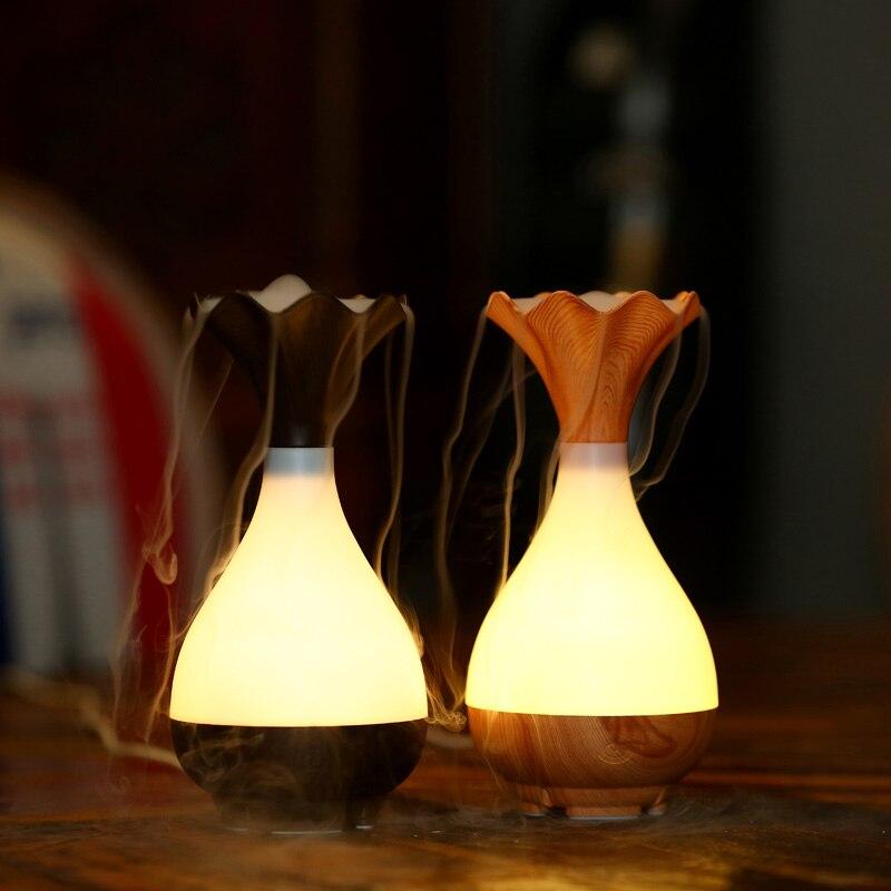 Two generation high quality creative mini ultrasonic wooden desk lamp aromatherapy office home dormitory humidifier z generation z generation zg001eblua97