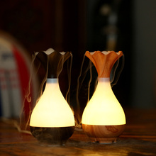 Two generation high quality creative mini ultrasonic wooden desk lamp aromatherapy office home dormitory humidifier