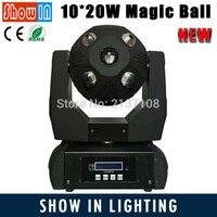 משלוח חינם 10x20 W DMX512 כדור קסם LED הזזת הראש Beam דיסקו Liight עבור DJ מועדון לילה נייד מסיבות Cabezal Movil קרן