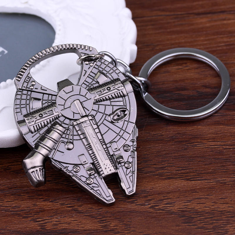 Keychain Figurines Collection Metal Star War Bottle-Opener Key-Rings for Fans Gifts Stainless-Steel