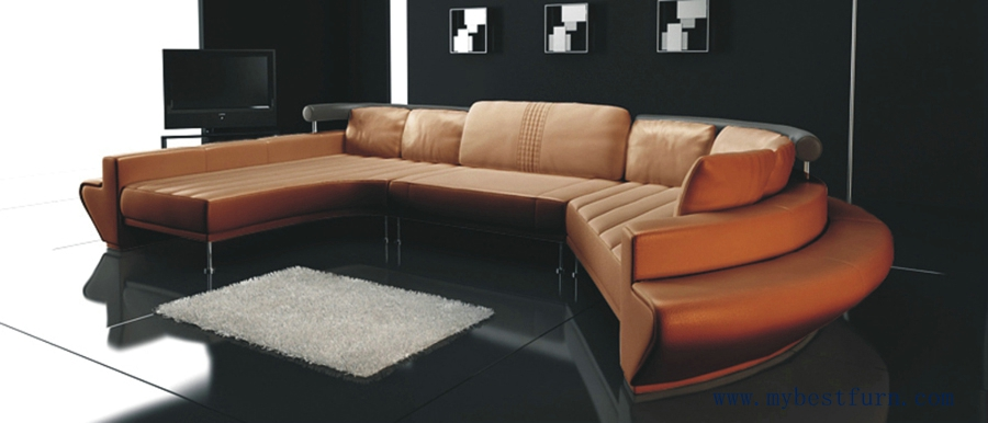 Buy sofa modern design home furniture hotel villa kty leather sofa set luxury Model home furniture outlet