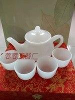 Afganistan beyaz yeşim Kung Fu çaydanlık çaydanlık kombinasyonu