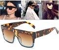 JinCool 2016 Kim Kardashian Fashion Sunglasses Women Brand Designer Vintage Flat Top Shades Sun Glasses Female Oculos Gafas S231