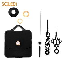 DIY 7x5,5x2,8 см бесшумные кварцевые часы в стиле ретро, черные стрелки, сменный комплект, сменные детали, винтажные Ретро часы