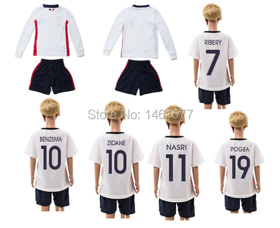 ... best 2016 long short sleeve free shipping france national team zidane  benzema kid youth soccer football 21dc73058