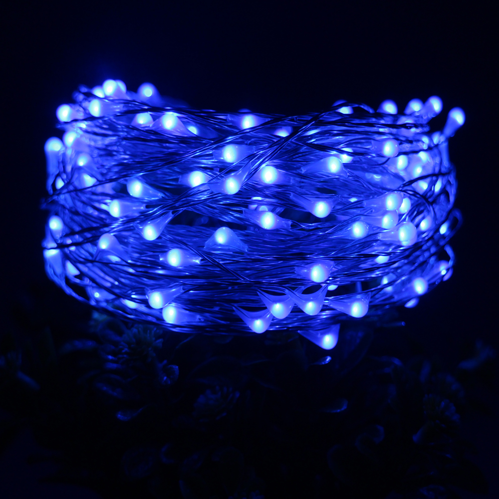 33ft 10m 100led silver wire led string lights with 12v 1a adapter led touch dimmer decoration - Christmas Light Dimmer