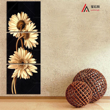 3Piece Modular pictures Artist Canvas painting Daisies Still Life Prints form vertical walls Picture mass effect No frame