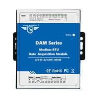 IOT Modulo di Acquisizione di Dati A Distanza 2 DIN + Uscita A Relè Modbus RTU Remote IO per il Monitoraggio Ambientale DAM102