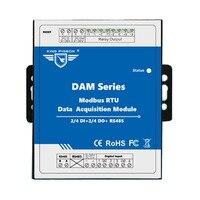 IOT удаленного регистрирующий модуль 2 DIN + реле Выход Modbus RTU удаленного ввода/вывода для контроля за состоянием окружающей среды DAM102