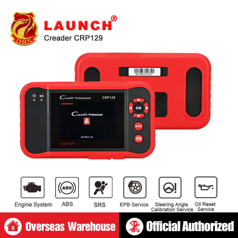 Scanner Lancement X431 Creader CRP129 Auto Code Reader OBD2 Automobile Outil De Diagnostic Machine Creader VIII 8 ENG À ABS SRS outils