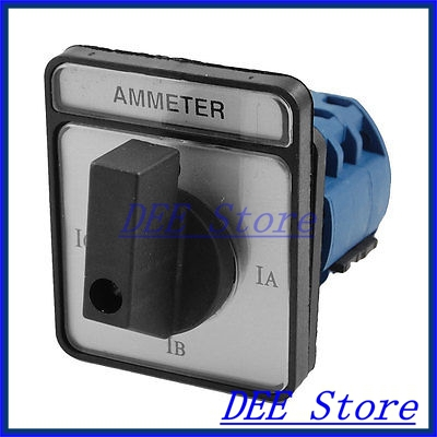 Motor Control Rotary Selector Changeover Ammeter Cam Switch CA10-A048 panel mount rotary cam changeover ammeter switch 4 positions ca10 a048