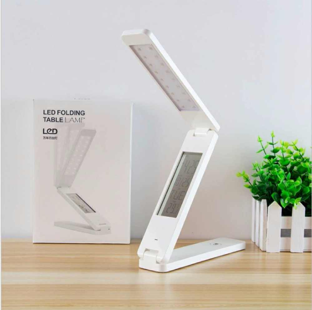 BRIDAY Desk Lamp LED Liquid Crystal Display With Alarm Clock Dimmable Table Lamp For Kids Portable Foldable LED Desk Lamps